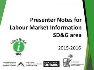 Labour Market Information SDG Presenter Notes Image